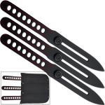 Ninja Red Line Throwing Knife Set with Arm Sheath