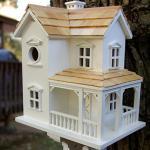 Home Bazaar Prairie Farmhouse Birdhouse with Mounting Bracket