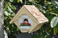 Home Bazaar Little Wren Bird House, Yellow