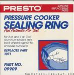 Presto 09909 Pressure Cooker Sealing Ring/Automatic Air Vent Pack (21/2 - 4 Quart Models)