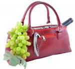 Primeware Red Serpentes Insulated Single Bottle Wine Clutch