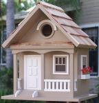 Home Bazaar Birds of a Feather Series Cafe Au Lait Cottage Birdhouse