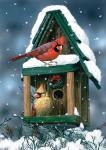 Toland Cardinals in Snow Garden Flag