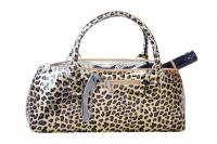 Picnic Gift - Wine Clutch - Cheetah Insulated Single Bottle Wine Tote