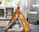 Merry Products Orange Puzzle Large Pet Teepee
