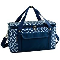 Picnic at Ascot Hybrid Semi-Rigid Folding Cooler- Trellis Blue