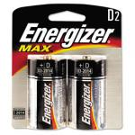 Energizer D Alkaline Batteries, 2 Pack