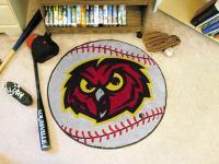 "Temple Owls Baseball Rug 29"" diameter"