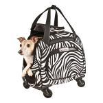 Snoozer Cooper 4-Wheeled Pet Bag - Zebra