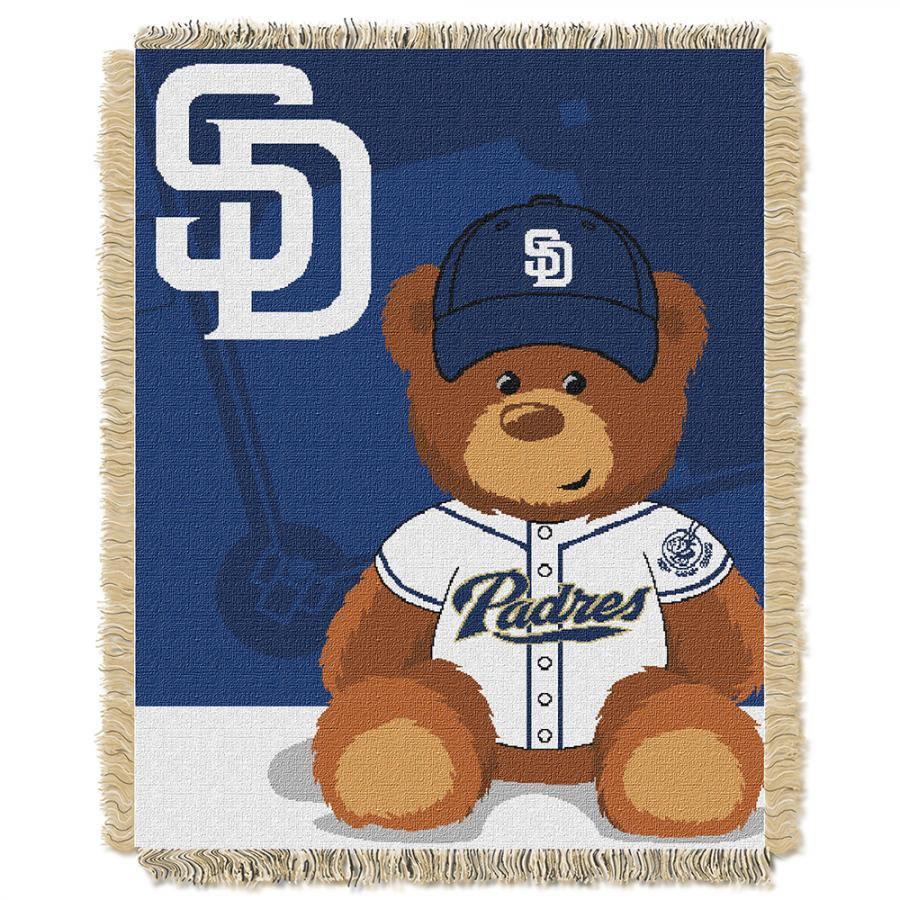 Northwest San Diego Padres MLB Triple Woven Jacquard Throw (Field Baby Series) (36x48)