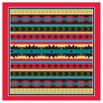 Liberty Mountain Modern Aztec Bandana w/ Red Trim
