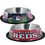 Cincinnati Reds Stainless Dog Bowl