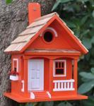 Home Bazaar Tangerine Cottage Birdhouse - Tangerine