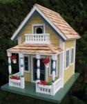 Home Bazaar Newburyport Cottage Birdhouse - Yellow