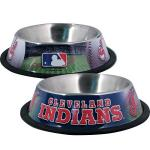 Cleveland Indians Stainless Dog Bowl