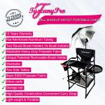 """Tuscany Pro Tall Makeup Artist Portable Chair with Light System - 29"""" Seat Height"""