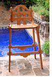 Palladian Caramelized Bamboo Bar Chair