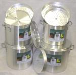 Large Aluminum Stock Pot Set (Set of 4)