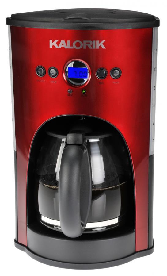 Kalorik 12cup Progam Coffee Maker Red