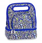 Picnic Plus Savoy Lunch Tote with Storage Container - English Paisley