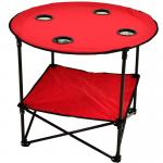 Picnic at Ascot Travel Folding Table for Picnics and Tailgating - Red