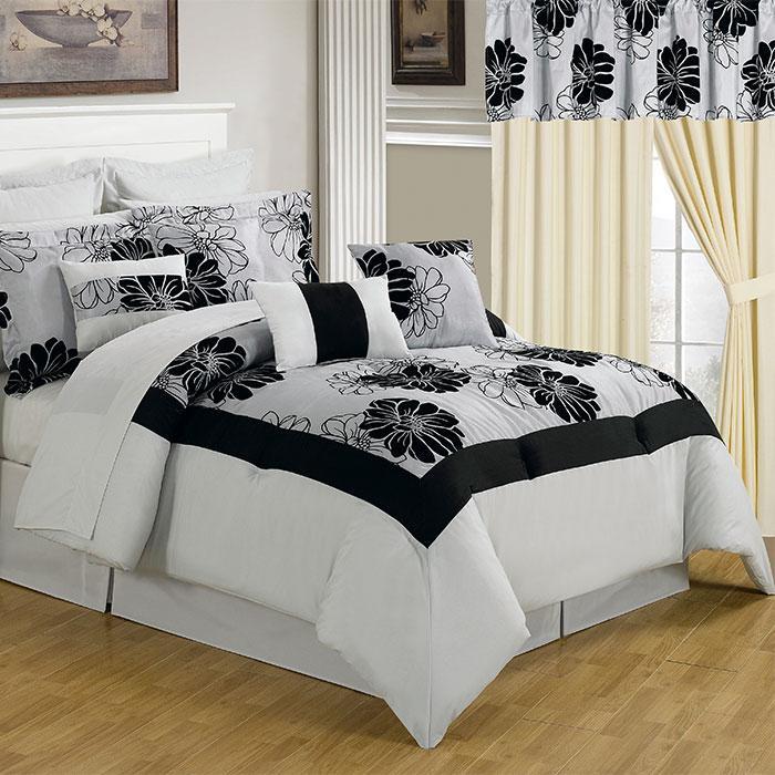 Lavish Home Lavish Home 24 Piece Room-In-A-Bag Madison Bedroom - Queen