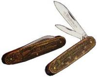 "Winchester 3 1/2"" 2-Blade Pen Knife with Cast Bronze Color Handle"