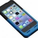 Prong Black/Blue Pocketplug Case & Charger For Iphone 5/5S